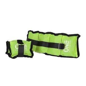 Zátěže na zápěstí a kotníky ONE FITNESS WW02 2 x 1,5 kg zelené