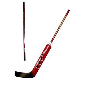 Hokejová hůl brankářská LION rovná barva červená délka 100 cm - rovná