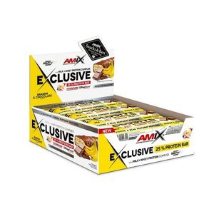 Amix Exclusive Protein Bar Příchuť: Banana-Chocolate, Balení(g): 24x40g