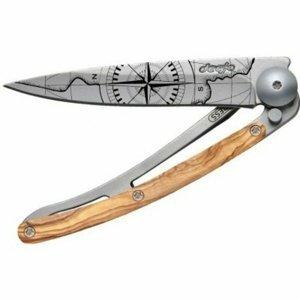 Kapesní nůž Deejo 9CB103 Tatto 27g, Olive wood, Terra Incognita