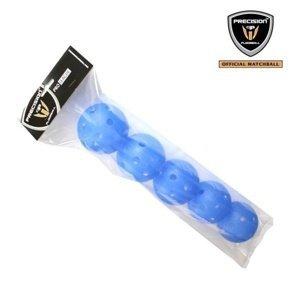 Sada florbalových míčků Precision PRO League Blue BOX-5ks