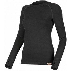 Dámské vlněné triko Lasting Lena 9090 černá XS