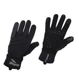 Pánské cyklistické rukavice Rogelli Storm, 006.124. černé XXL