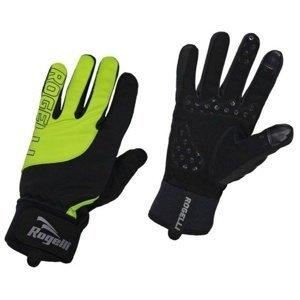 Pánské cyklistické rukavice Rogelli Storm, 006.125. černé-reflexní žluté XXL