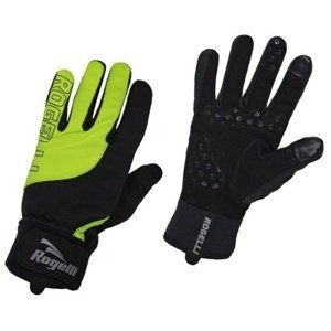 Pánské cyklistické rukavice Rogelli Storm, 006.125. černé-reflexní žluté XXXL