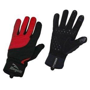 Pánské cyklistické rukavice Rogelli Storm, 006.126. černé-červené XL
