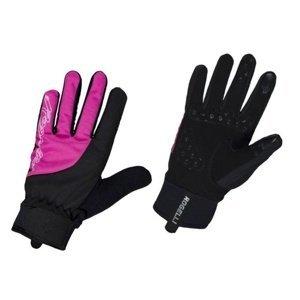 Dámské cyklistické rukavice Rogelli Storm, 010.656. černo-růžové S
