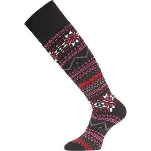 Lyžařské ponožky Lasting SKW 903 černá M (38-41)