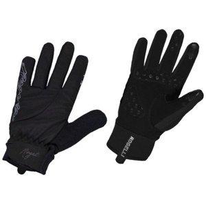 Dámské cyklistické rukavice Rogelli Storm, 010.655. černé XS