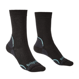 Ponožky Bridgedale Hike Lightweight Coolmax Performance Boot Women's graphite/mint/168 L (7-8 UK)