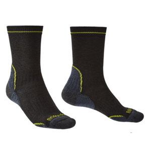 Ponožky Bridgedale Hike Lightweight Coolmax Performance Boot black/lime/137 M (6,5-9)