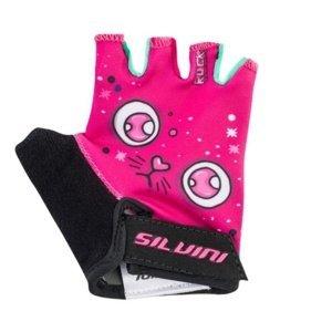 Dětské cyklo rukavice Silvini Punta CA1438 pink 3-4