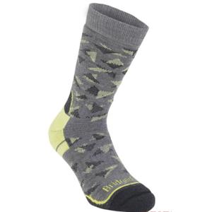 Ponožky Bridgedale Hike Midweight Merino Performance Boot grey/lime/118 L (9,5-12)