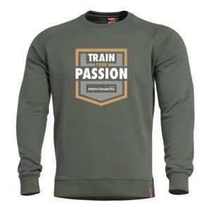 Mikina PENTAGON® Hawk Train Your Passion zelená XL
