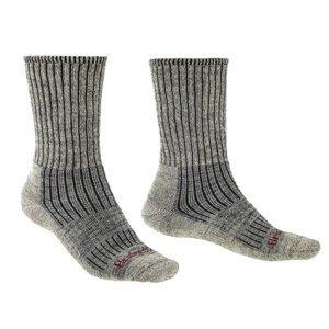Ponožky Bridgedale Hike Midweight Merino Comfort Boot stone grey/017 XL (12-14,5) UK