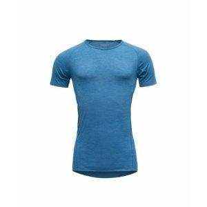 Pánské prodyšné běžecké vlněné triko Devold running GO 293 210 B 291A modrá  XL