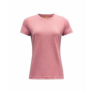 Dámské vlněné tričko s krátkým rukávem Devold Eika GO 180 291 B 172A růžová M