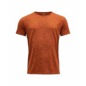Pánské vlněné tričko s krátkým rukávem Devold Eika GO 181 280 B 087A oranžová XXL