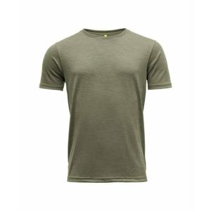 Pánské vlněné tričko s krátkým rukávem Devold Eika GO 181 280 B 404A zelená S