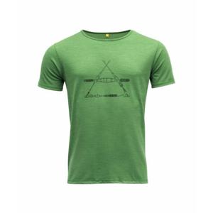 Pánské vlněné tričko s krátkým rukávem Devold Vasset GO 293 280 J 412A zelená S