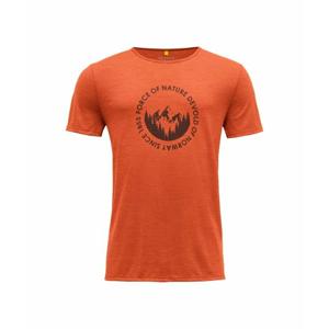 Pánské vlněné tričko s krátkým rukávem Devold Leira GO 293 280 O 087A oranžová S