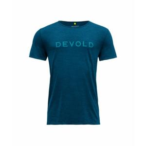 Pánské sportovní lehké vlněné tričko s krátkým rukávem Devold Langevag GO 293 281 M 291A modrá L