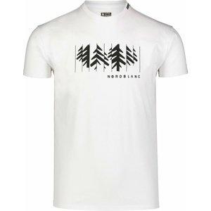 Pánské bavlněné triko Nordblanc DECONSTRUCTED bílé NBSMT7398_BLA XXL