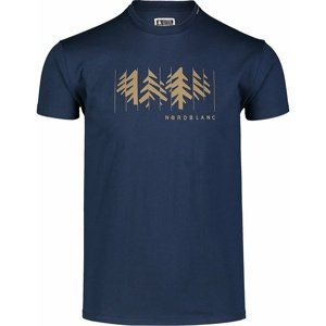 Pánské bavlněné triko Nordblanc DECONSTRUCTED modré NBSMT7398_MOB XL