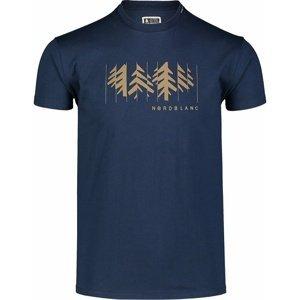 Pánské bavlněné triko Nordblanc DECONSTRUCTED modré NBSMT7398_MOB XXL