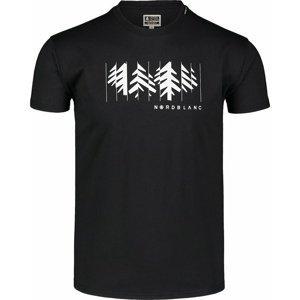 Pánské bavlněné triko Nordblanc DECONSTRUCTED černé NBSMT7398_CRN S