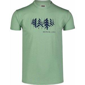 Pánské bavlněné triko Nordblanc DECONSTRUCTED zelené NBSMT7398_PAZ S