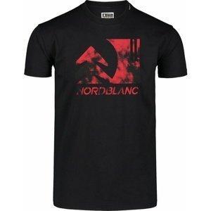 Pánské bavlněné triko Nordblanc TREETOP černé NBSMT7399_CRN L