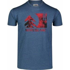 Pánské bavlněné triko Nordblanc TREETOP modré NBSMT7399_SRM S