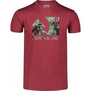 Pánské bavlněné triko Nordblanc TREETOP vínové NBSMT7399_HCA XXL