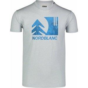 Pánské bavlněné triko Nordblanc TREETOP šedé NBSMT7399_SSM L