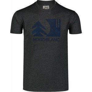 Pánské bavlněné triko Nordblanc TREETOP černé NBSMT7399_CEM L