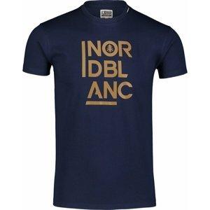 Pánské bavlněné triko Nordblanc OBEDIENT modré NBSMT7258_TEM M