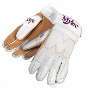 Hokejbalové rukavice Mylec Elite Street White SR