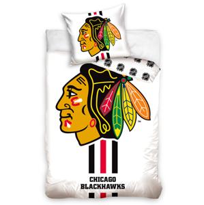 Tip Trade NHL CHICAGO BLACKHAWKS WHITE 140x200 70x90