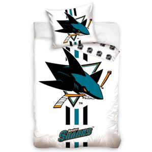 Tip Trade povlečení NHL San Jose Sharks White 140x200 70x90