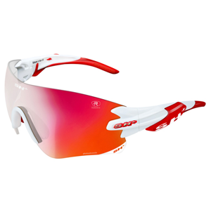 Cyklistické brýle SH+ RG 5200 Reactive Flash bílo-červené