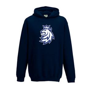 Dětská mikina s kapucí Český hokej Lev tmavě modrá