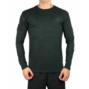 Pánské tričko Virtus Joker Melange LS Tee tmavě zelené