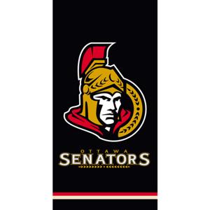 TipTrade Osuška NHL Ottawa Senators Black 70 x 140 cm