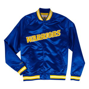 Bunda Mitchell & Ness Lightweight Satin Jacket NBA Golden State Warriors