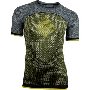 Pánské tričko UYN Running Alpha OW Shirt SS žluto-šedé