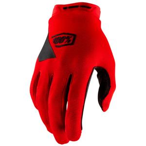 Dětské cyklistické rukavice 100% Ridecamp červené