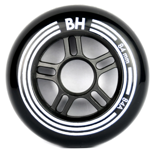 Inline kolečka BH 84A 84 mm 8 ks Black