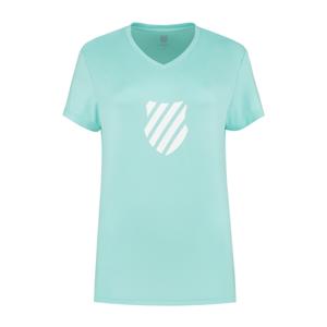 Dámské tričko K-Swiss Hypercourt Express Logo Aruba Blue