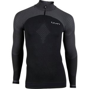 Pánské tričko UYN Running Alpha OW Shirt LS Zip Up černo-šedé